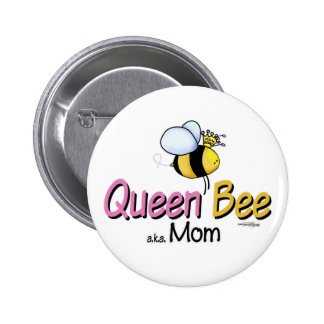Queen Bee Mom of Twins button