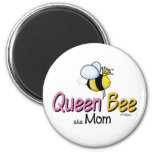 Queen Bee Mom of Twins button 2 Inch Round Magnet