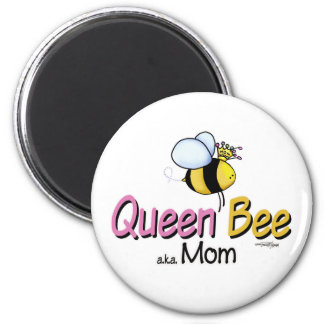 Queen Bee Mom of Twins button Magnet