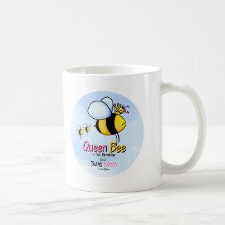 Queen Bee Mom of Twins mug