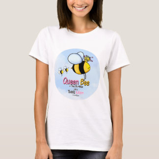Queen Bee Mom of Twins t-shirt
