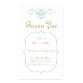 Queen Bee Mommy Calling Card Business Card Templates