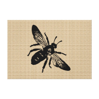 Queen Bee on canvas Canvas Print