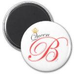 Queen Bee Pink Black Gold Crown Magnet