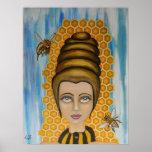 Queen Bee Pop Surrealism Poster