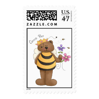 Queen Bee - Postage Stamps