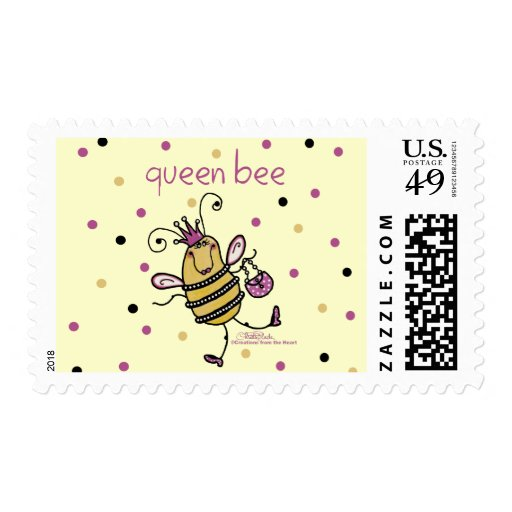 Queen Bee Postage Stamps