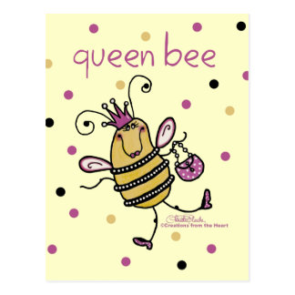 Queen Bee Postcard