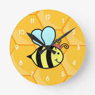 Queen Bee Round Clock