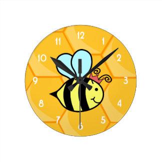 Queen Bee Round Clock