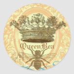 Queen Bee Round Seals or Stickers