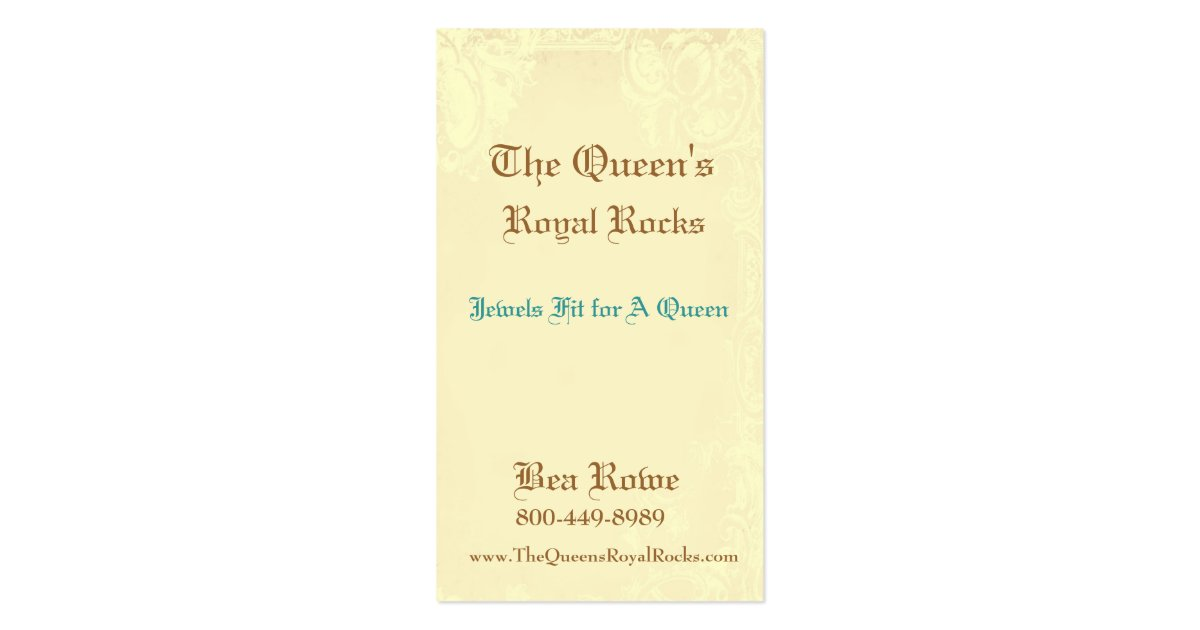 Queen bee royal crown business card zazzle for Crown business cards