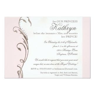 "Queen Bee Royal Wedding Bridal Shower Invitation 5"" X 7"" Invitation Card"