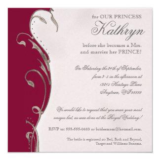 "Queen Bee Royal Wedding Bridal Shower Invitation 5.25"" Square Invitation Card"