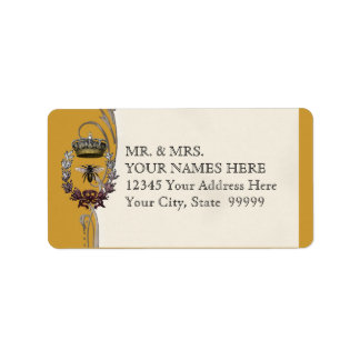 Queen Bee Royal Wedding Bridal Shower Invitation Label