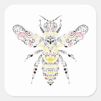 queen bee square sticker