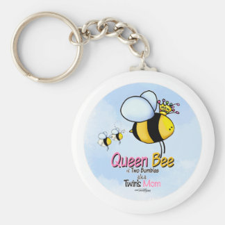 Queen Bee - Twins Mom Keychain