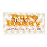 Queen Bee Wildflower Honey Jar Custom Shipping Labels