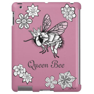 Queen Bee with Flowers: DIY Coloring by Sonja A.S.