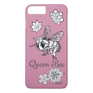 Queen Bee with Flowers: DIY Coloring by Sonja A.S. iPhone 8 Plus/7 Plus Case