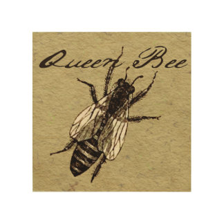 Queen Bee Wood Wall Decor