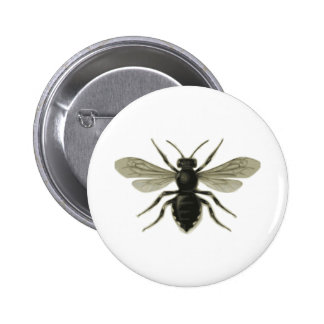 Queen Bee Yellow Black Save The Bees Pinback Button