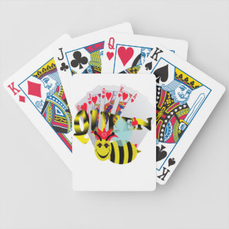 queen bees royal flush bicycle playing cards
