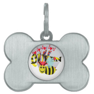 queen bees royal flush pet tag