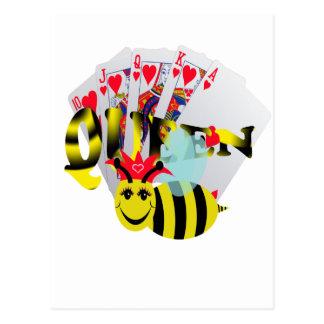 queen bees royal flush postcard