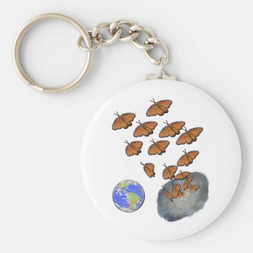 Queen Butterflies Enter Universe Basic Round Button Keychain