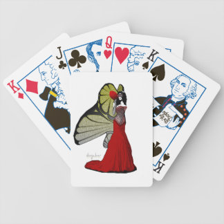 Queen Butterfly Bicycle Playing Cards