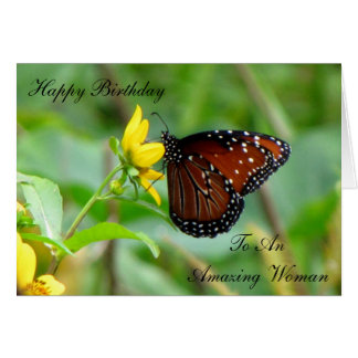 Queen Butterfly Birthday Card