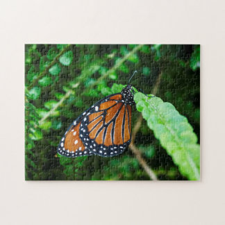 Queen Butterfly on a Fern Puzzle