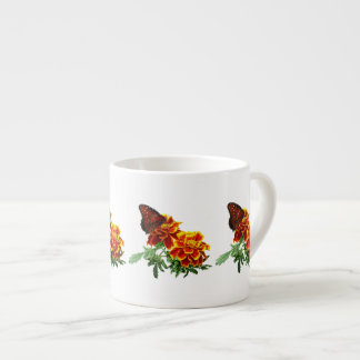Queen Butterfly on Marigold Espresso Cup