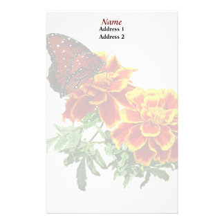 Queen Butterfly on Marigold Wedding Products Stationery
