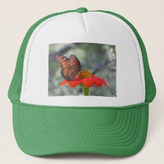 Queen Butterfly on Mexican Sunflower Trucker Hat