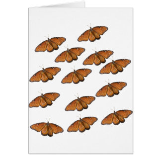 Queen Butterfly Swarm Card