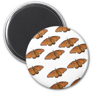 Queen Butterfly Swarm 2 Inch Round Magnet