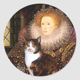 Queen - Calico short haired Classic Round Sticker