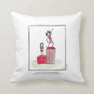 QUEEN cartoon by Ellen Elliott Throw Pillow