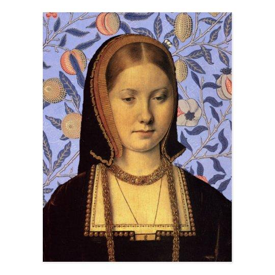 Queen Catherine Of Aragon Portrait Postcard Zazzle