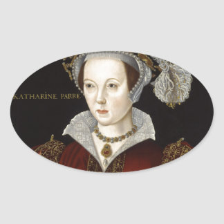 Queen Catherine Parr Oval Stickers