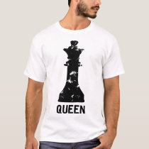 queen chess matching couples halloween costume hal T-Shirt