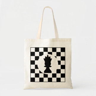 Queen Chess Piece - Tote - Chess Themed Gift Budget Tote Bag