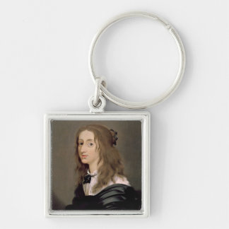 Queen Christina of Sweden  1652 Silver-Colored Square Keychain