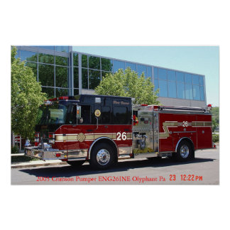 Queen City Hose Company Olyphant Pa Poster