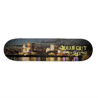 Queen City Streets Custom Skateboard
