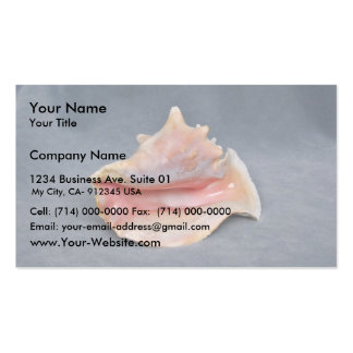 Queen Conch Shell Business Card