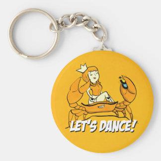 Queen Crab Reggae Girl Basic Round Button Keychain
