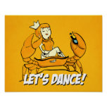 Queen Crab Reggae Girl Poster